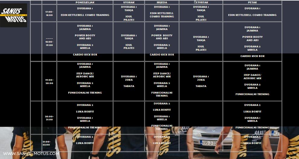 Najbolja kombinacija za vaše zdravlje; Sanus Motus treneri i grupni programi treninga